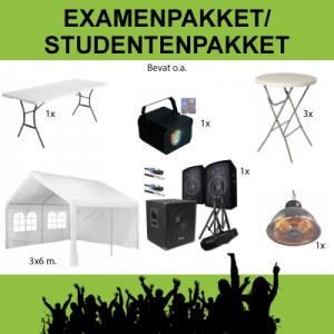 Examenfeestpakket Studenetenpakket huren Parkstad